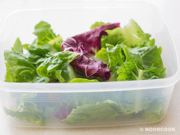 Washed Salad Veggies