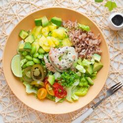 Wasabi Shrimp Poke Bowl Recipe